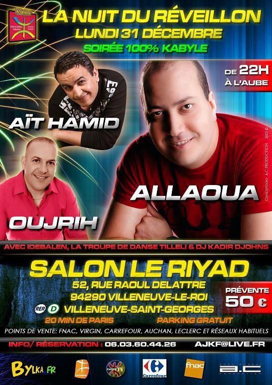 Soir e r veillon kabyle exceptionnelle for Salon kabyle