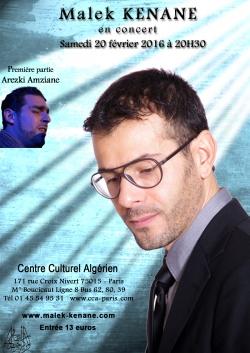 Malek Kenane au Centre Culturel Algérien de Paris