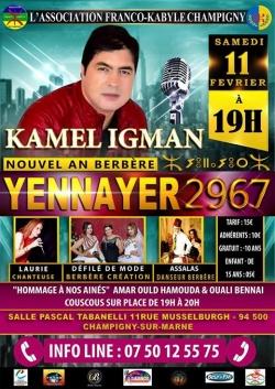 Yennayer 2967 avec Kamel Igman