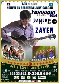 ZAYEN sera à Livry-Gargan pour Yennayer 2970