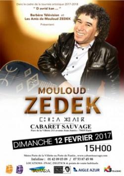 Zedek Mouloud  en concert au Cabaret sauvage